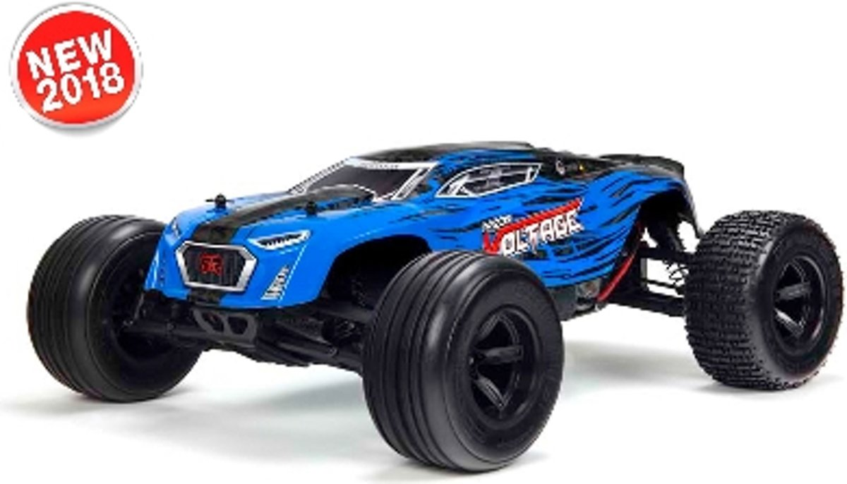 - Fazon Voltage 2WD 1/10 Monster Truck RTR - 18650 Li-Ion (2x) - AC-Charger - Blue / Black