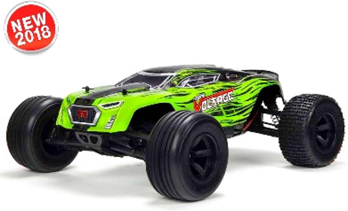 - Fazon Voltage 2WD 1/10 Monster Truck RTR - 18650 Li-Ion (2x) - AC-Charger - Green / Black