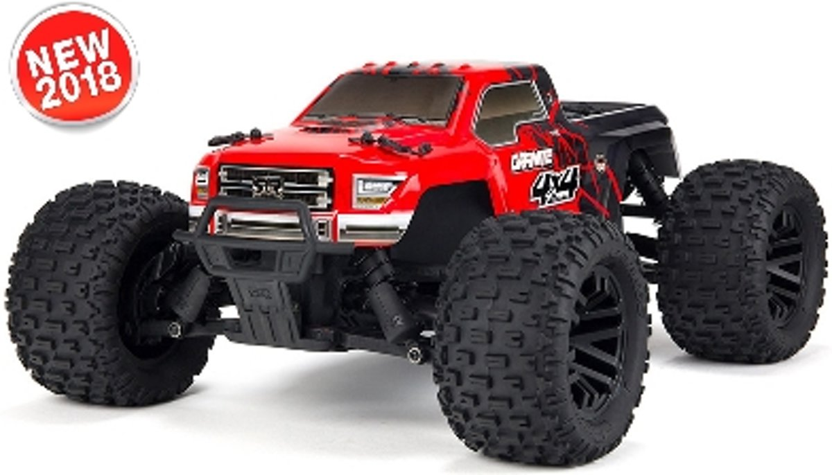 - Granite 4x4 Mega 1/10 Monster Truck RTR - NiMh 8.4V 2400mAh - Charger - Red / Black