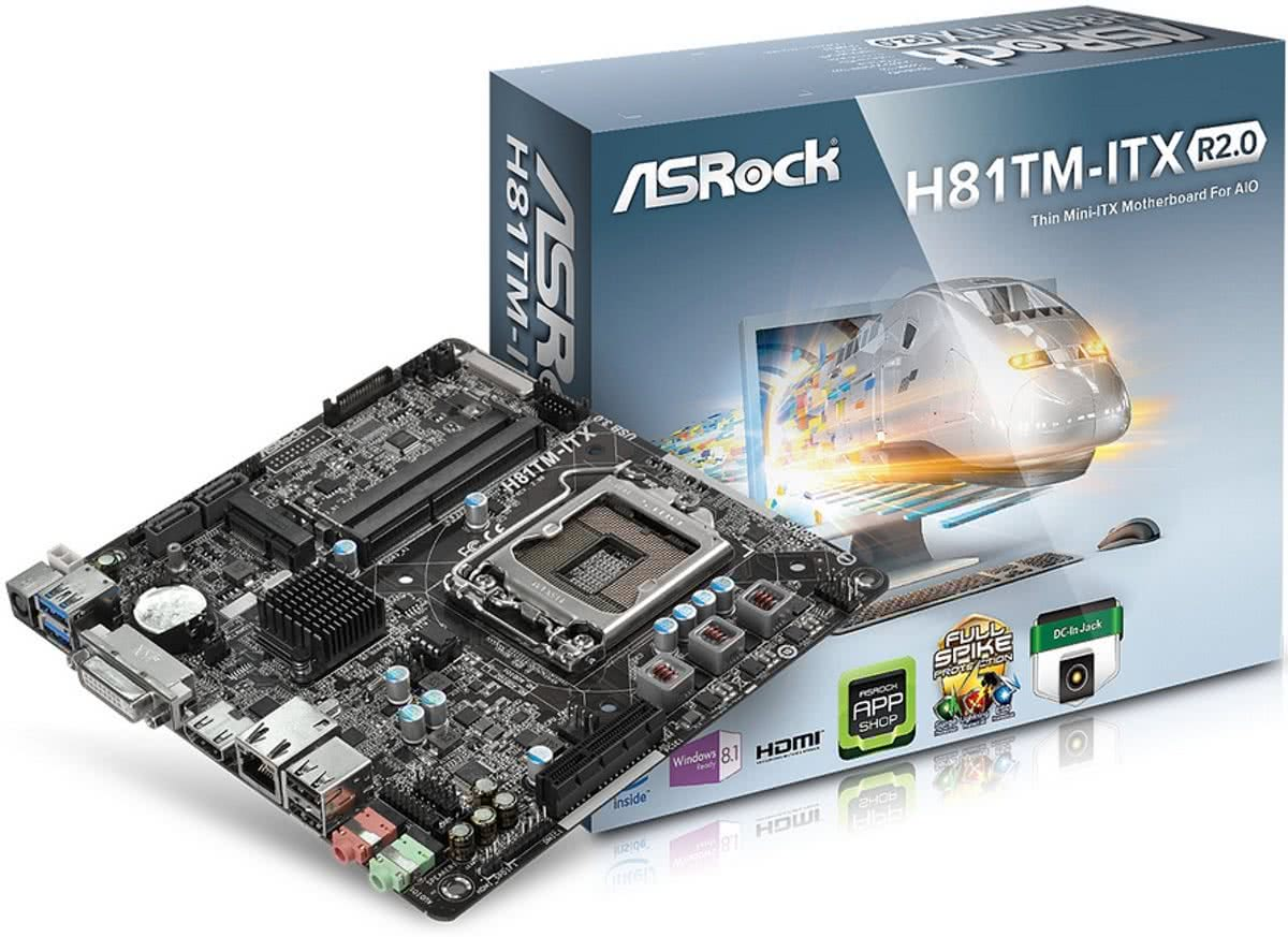 H81TM-ITX R2.0 Intel H81 Socket H3 (LGA 1150) Mini ITX moederbord