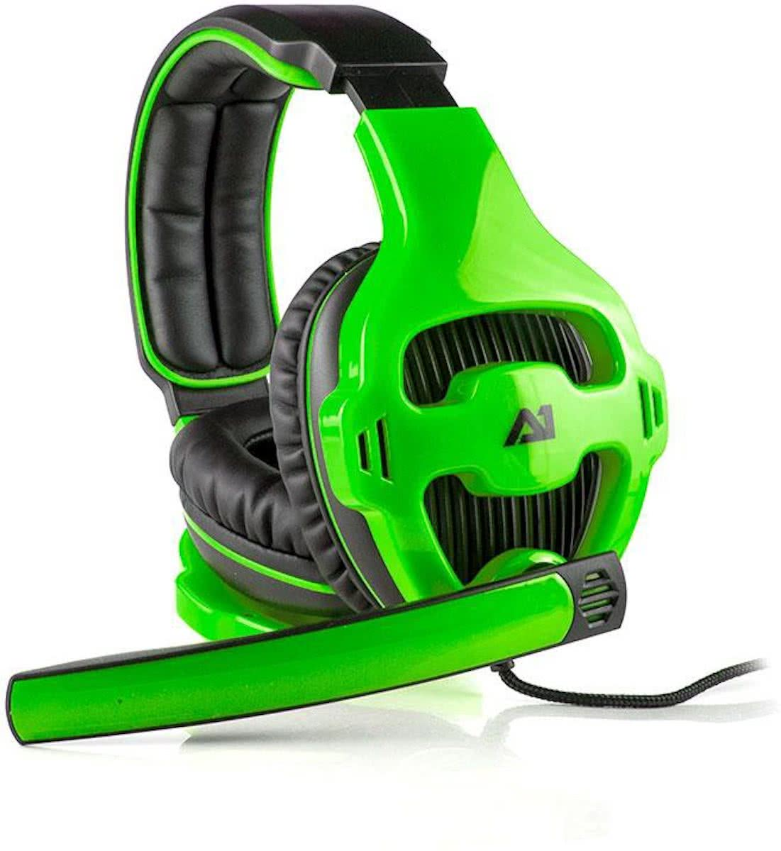 Attitude One Tunguska Stereo (2.0) Wired Gaming Headset - Groen PC