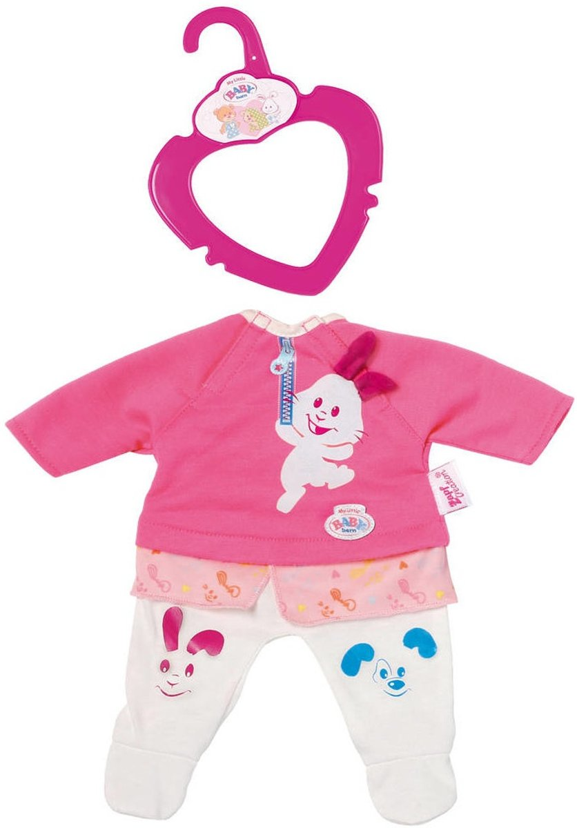 Baby Born Kledingset Clothing Voor Pop Roze 3-delig
