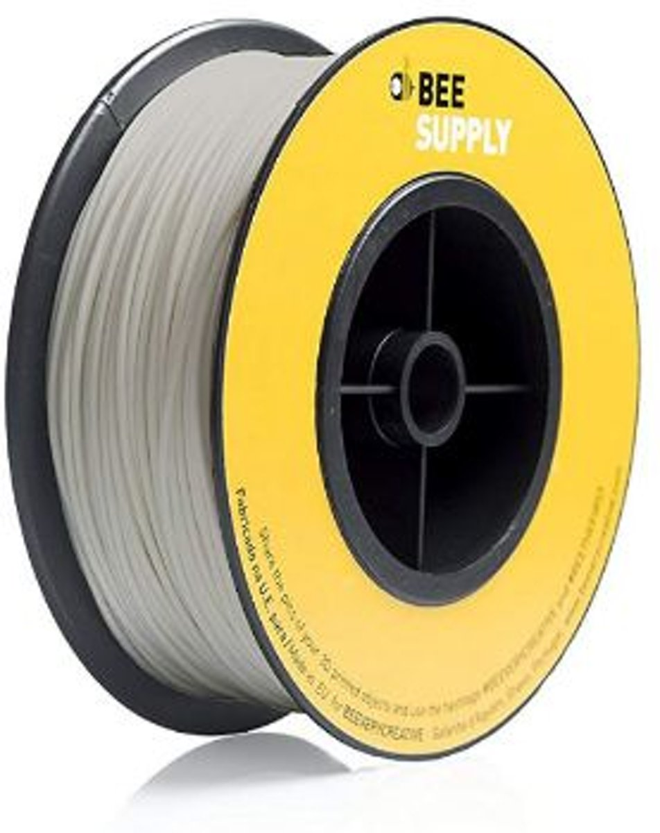 BEESUPPLY PLA filament Blanc Gris 1,75 mm / 330 gram