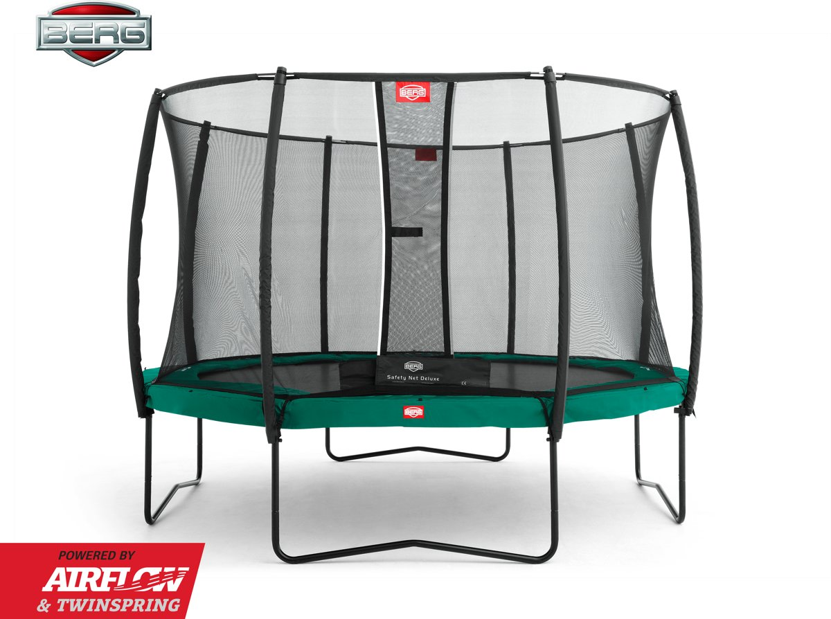 BERG Trampoline Champion + Safetynet Deluxe 430 cm - met Airflow - Twinspring