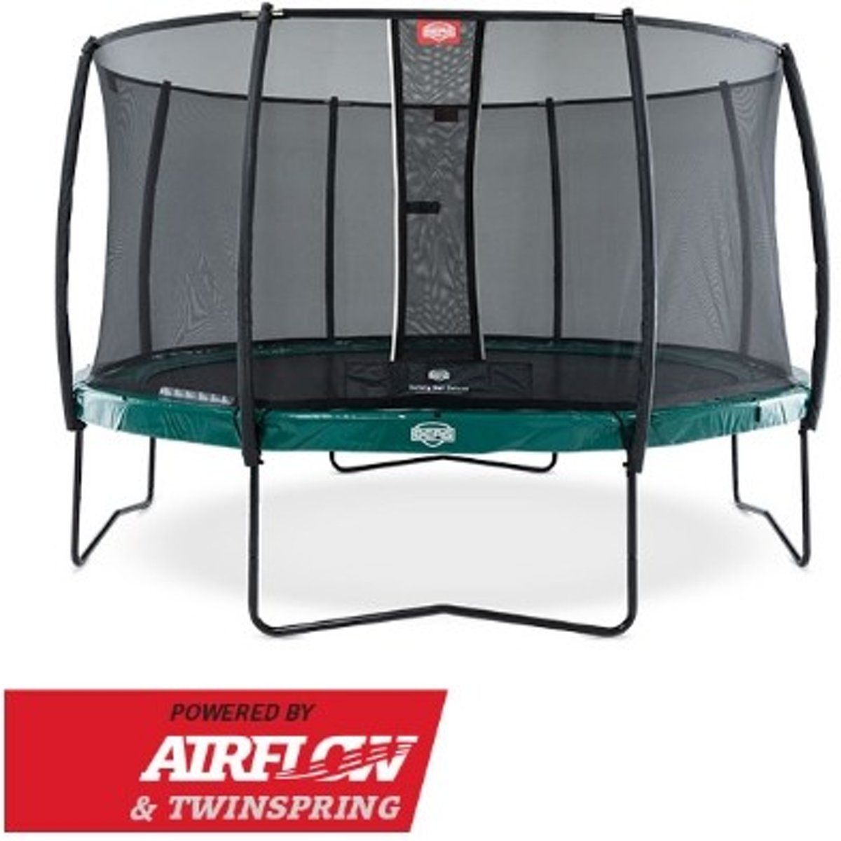Trampoline   Elite Red 430 + Safety Net Deluxe