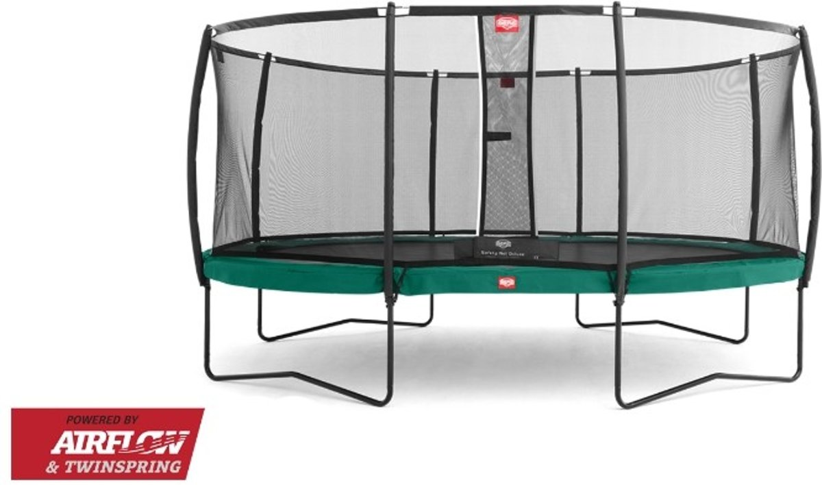 Trampoline   Grand Champion Regular 350 x 250 Green + Safety Net Deluxe