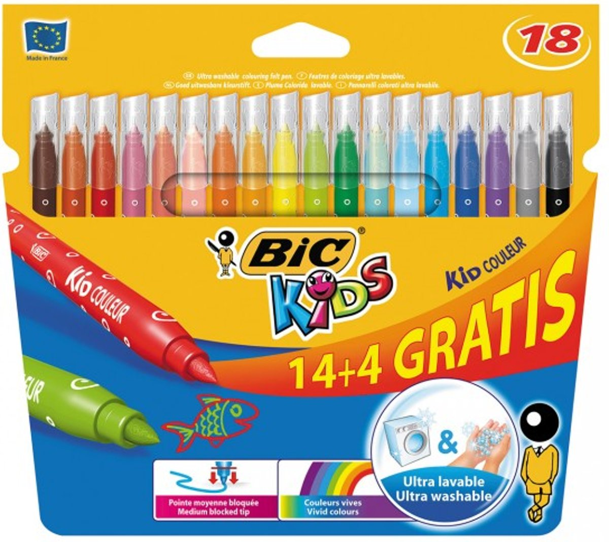 Kids Kid Couleur, 14 + 4st. gratis