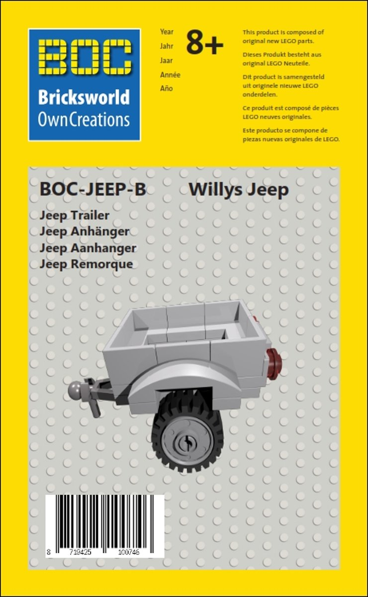 BOC-JEEP-B Willys Jeep Aanhanger
