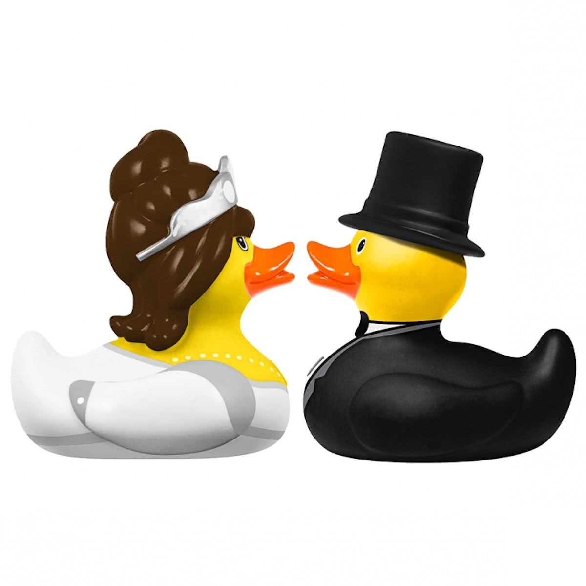 DELUXE MINI BRIDE & GROOM DUCK SET