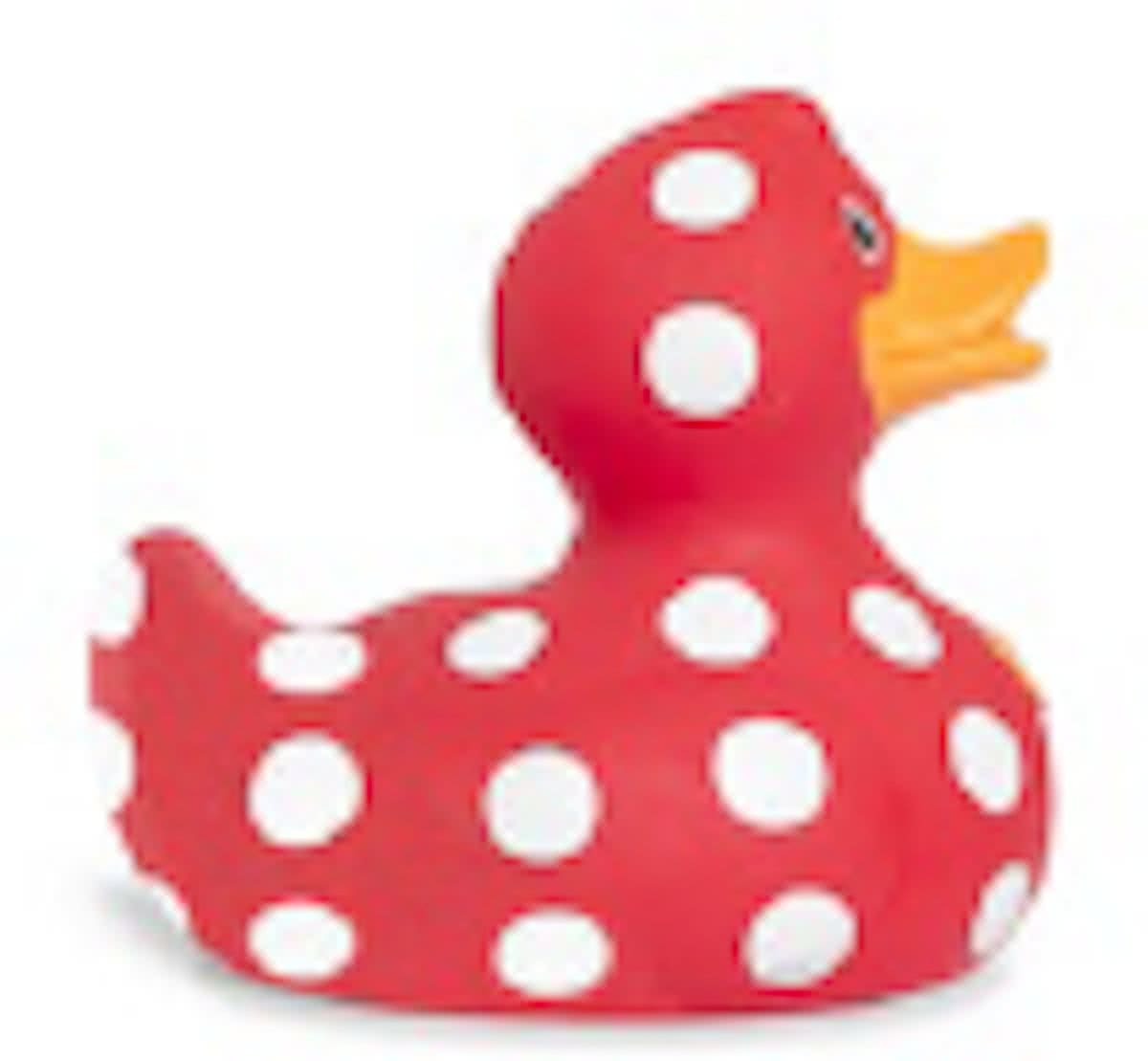 Luxury mini POLKA DOT  Duck van Bud Duck: Mooiste Design badeend ter Wereld