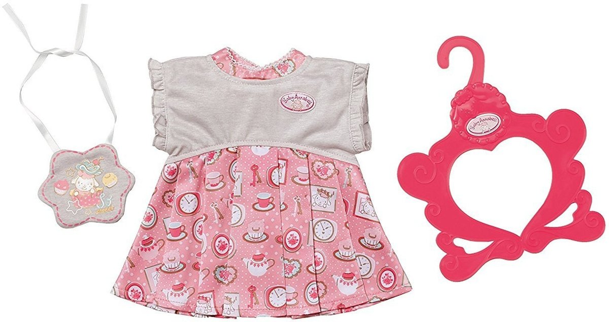 Kledingset Day Dress Voor Pop Roze 3-delig