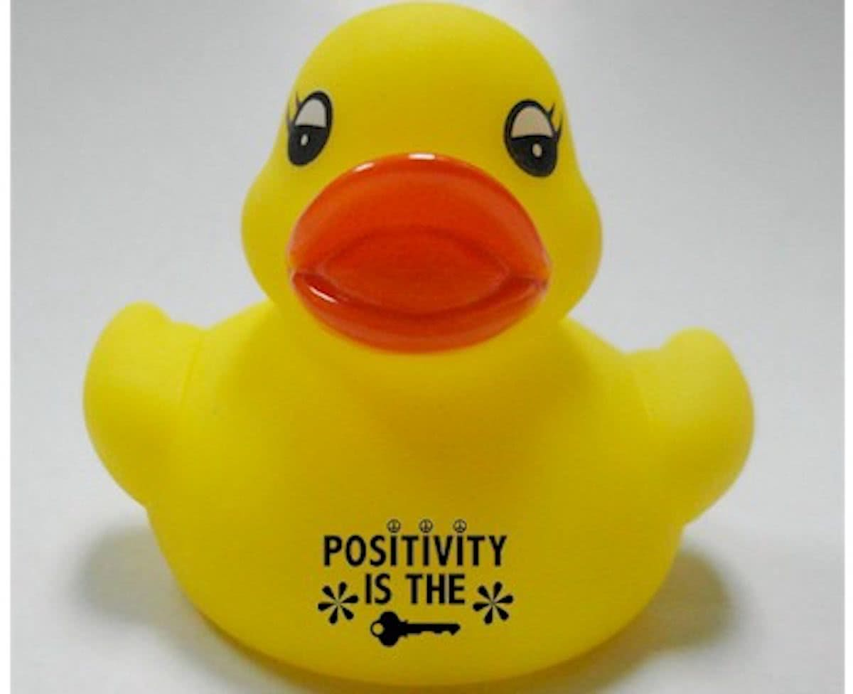 Badeendje POSITIVITY IS THE KEY (per 10 eeendjes)