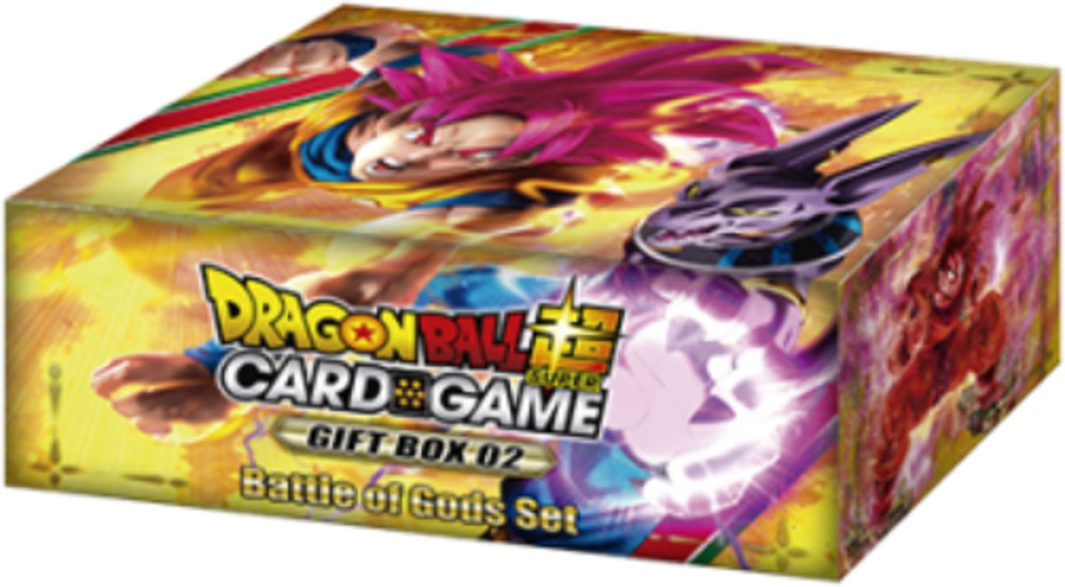 Dragon Ball SCG Gift Box 02 Battle of Gods Set - 6 Booster Packs - 1 Limited Edition Promo Card - DBS - Dragonball Super TCG