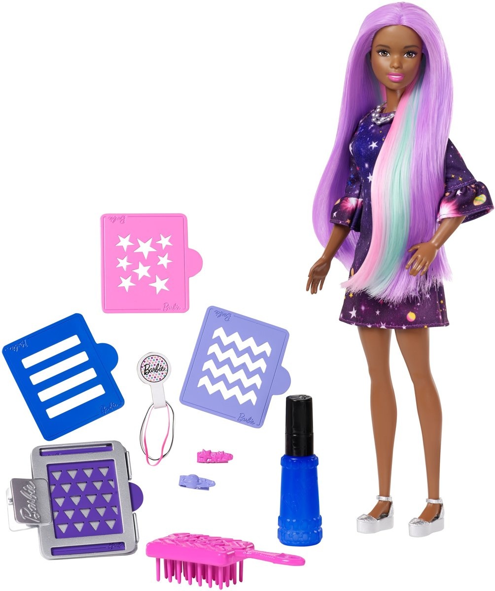 Barbie Color Surprise Haarset Afro American - Barbiepop