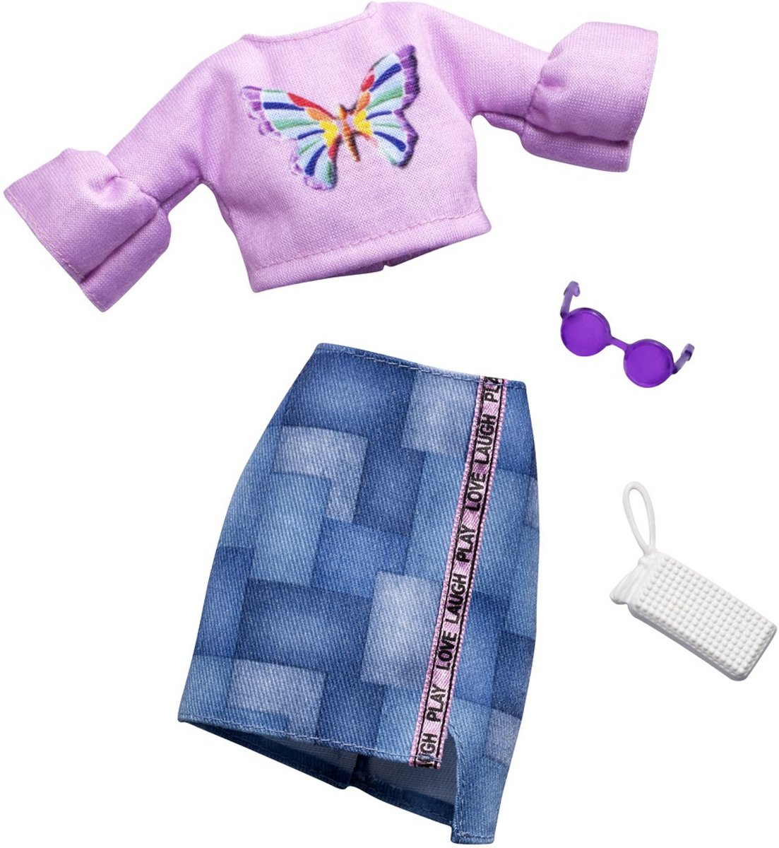 Complete Look Roze/Blauw Fashion Set FXJ02