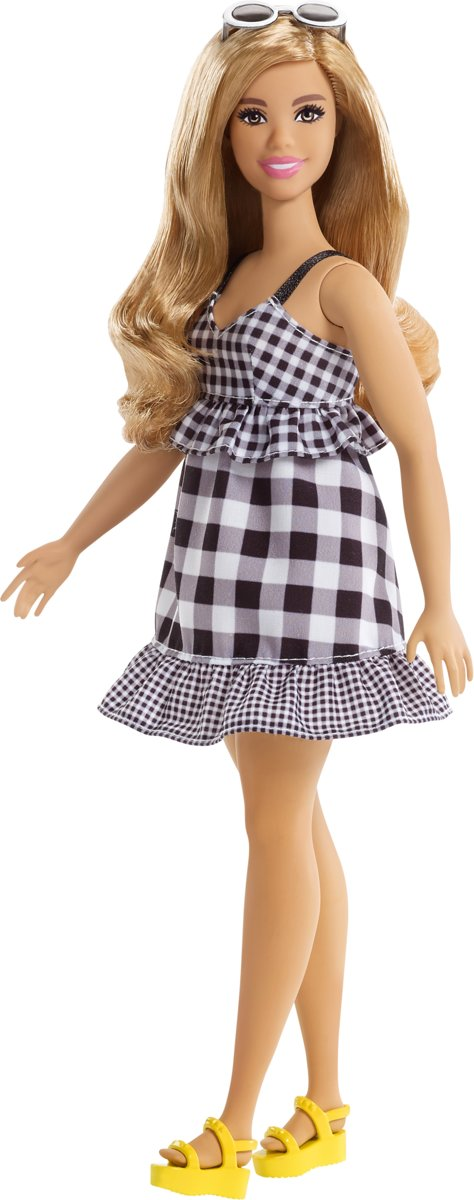 Fashionistas Black & White Gingham - Curvy -  pop