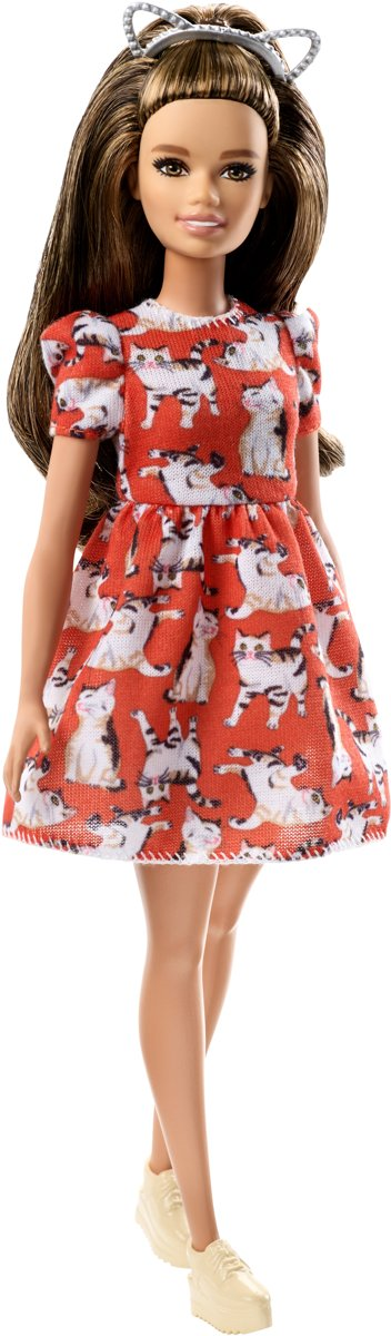 Fashionistas Kitty Dress - Petite -  pop