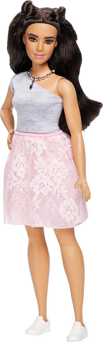 Fashionistas Powder Pink Lace - Curvy -  pop