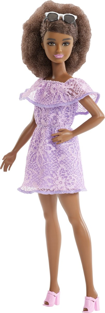 Fashionistas Purple Lace Romper AA - Petite -  pop