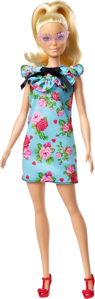 Fashionistas Teal Floral Dress Millie - Original -  pop
