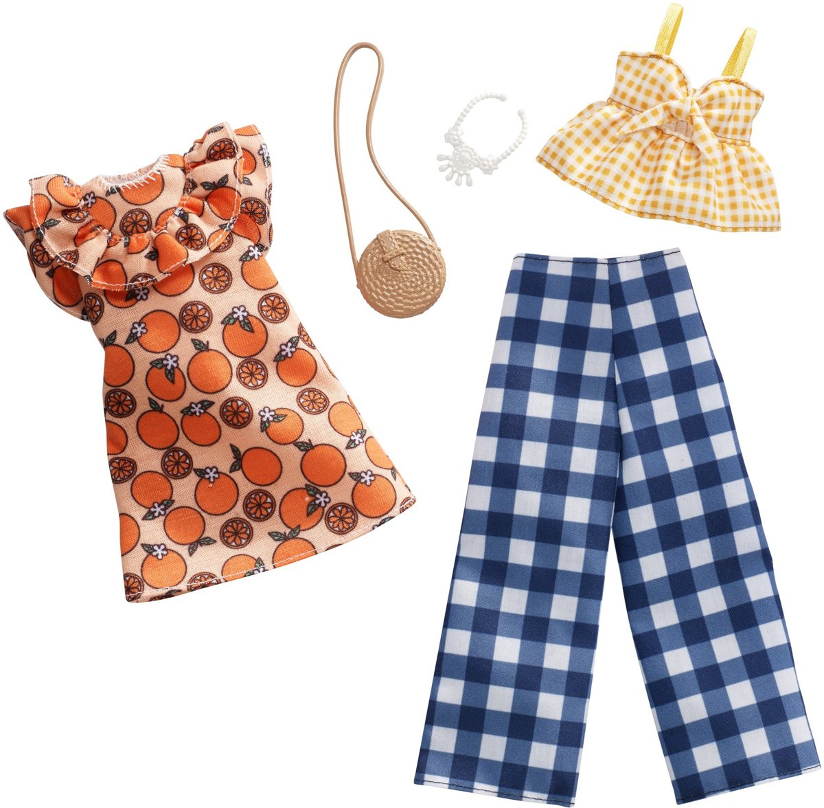 Kledingsetje Orange Gingham - 2 Outfits