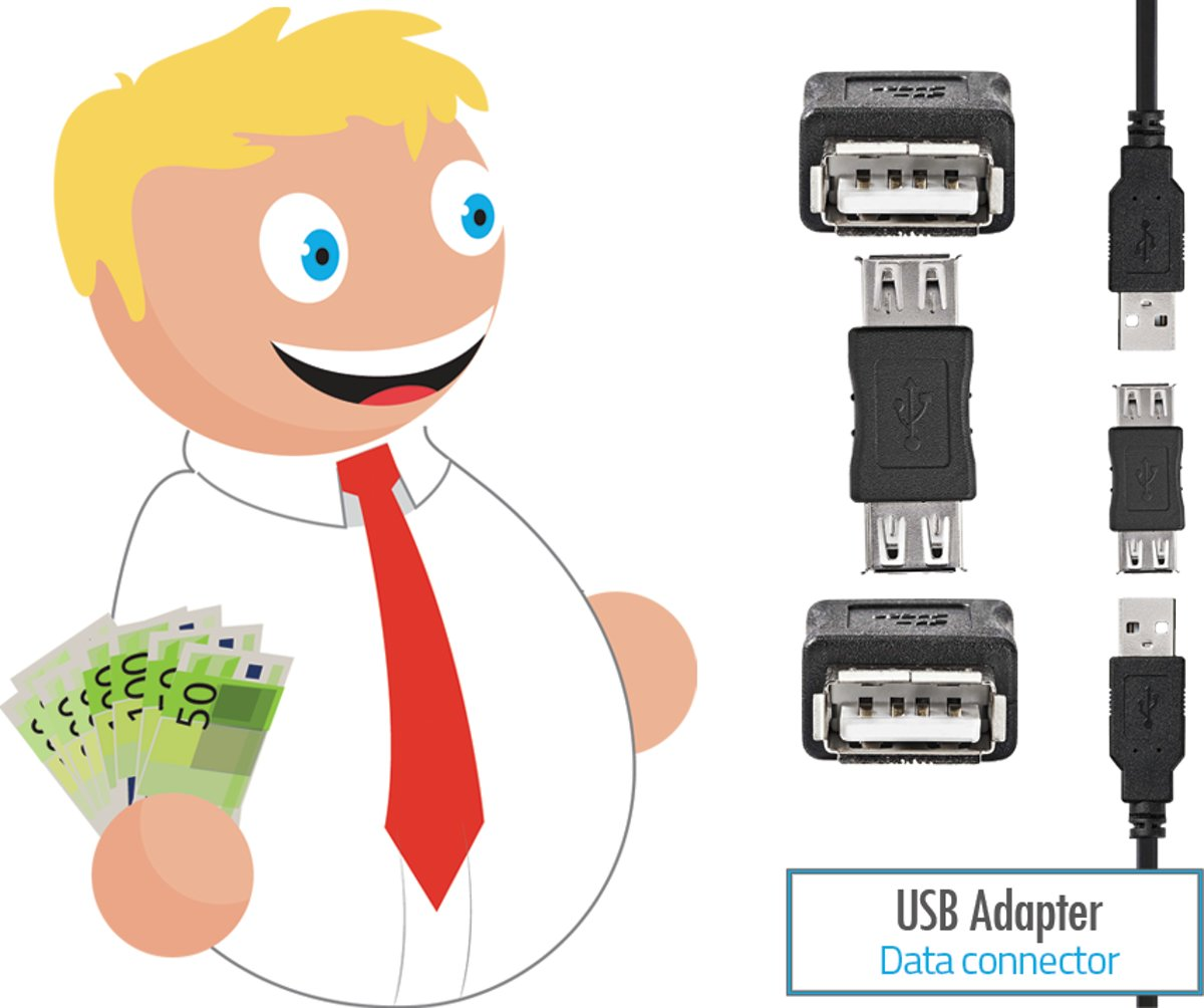 Budget Usb adapter koppelstuk Female naar Female