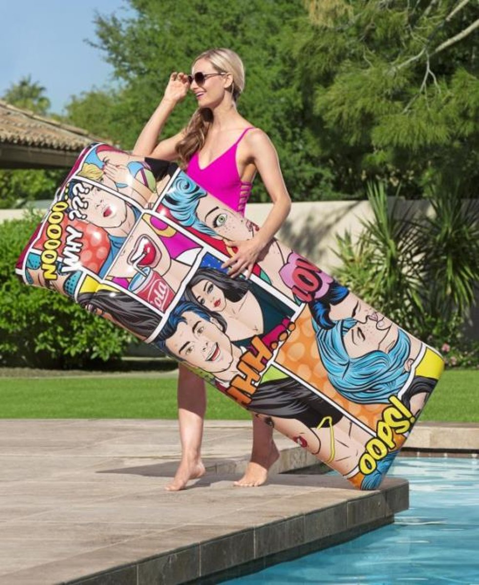 1.83m x 71cm Pop Art Pool Mat