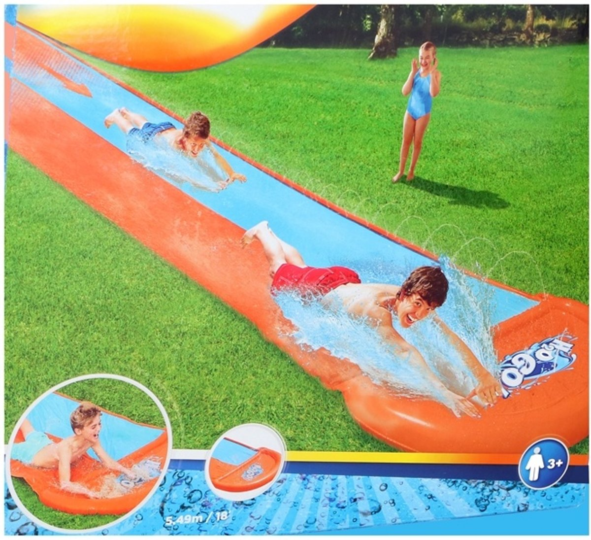 Waterglijbaan double slide