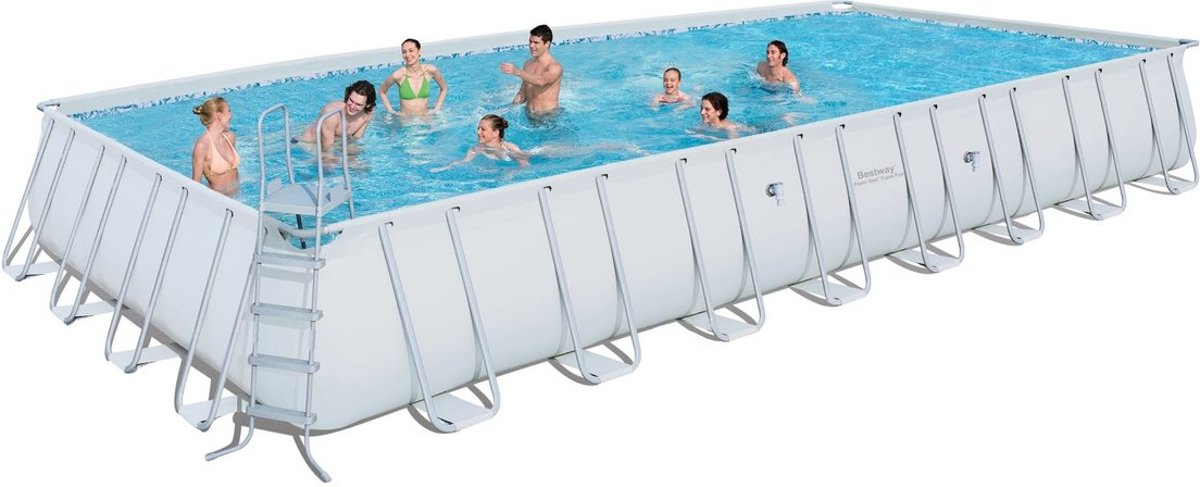 Bestway power steel rectangular frame pool 956x488x132