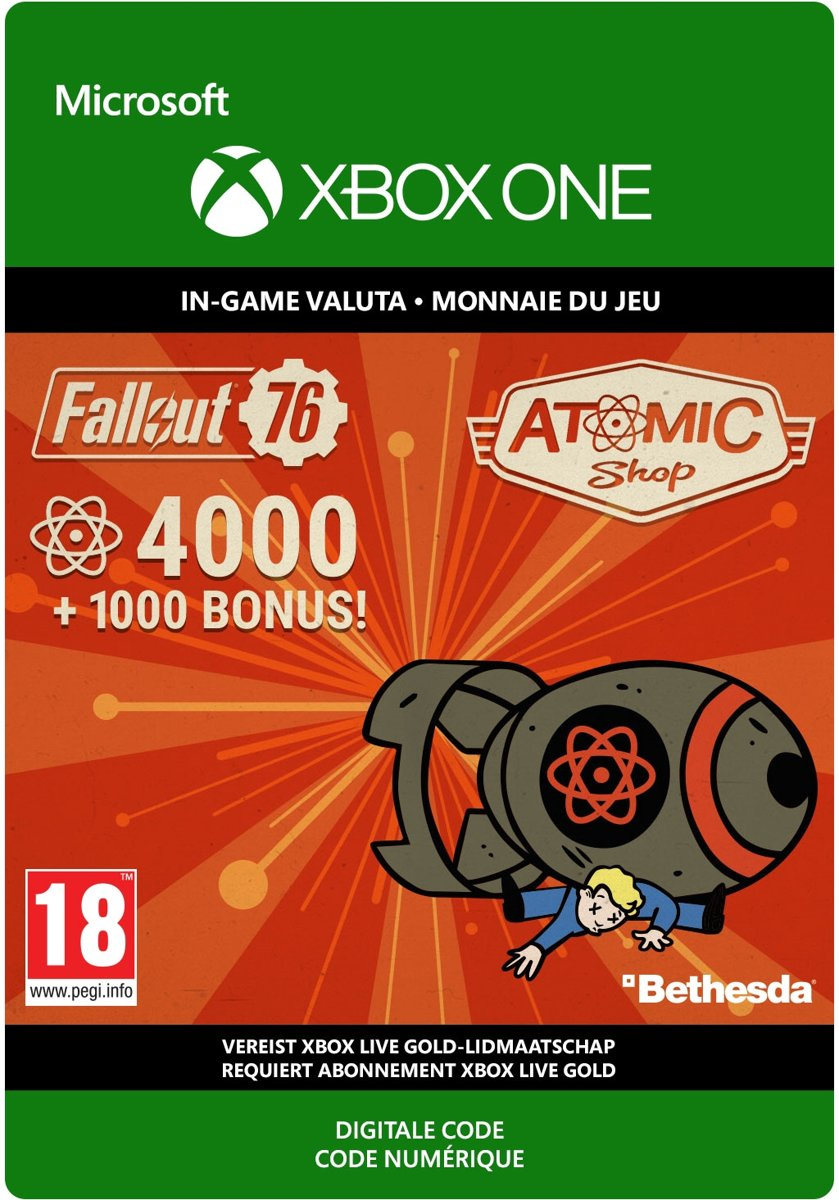 Fallout 76: 4.000 +1.000 Bonus Atoms - Xbox One Download