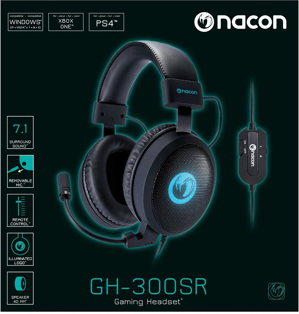 Nacon 7.1 Surround Gaming Headset PC