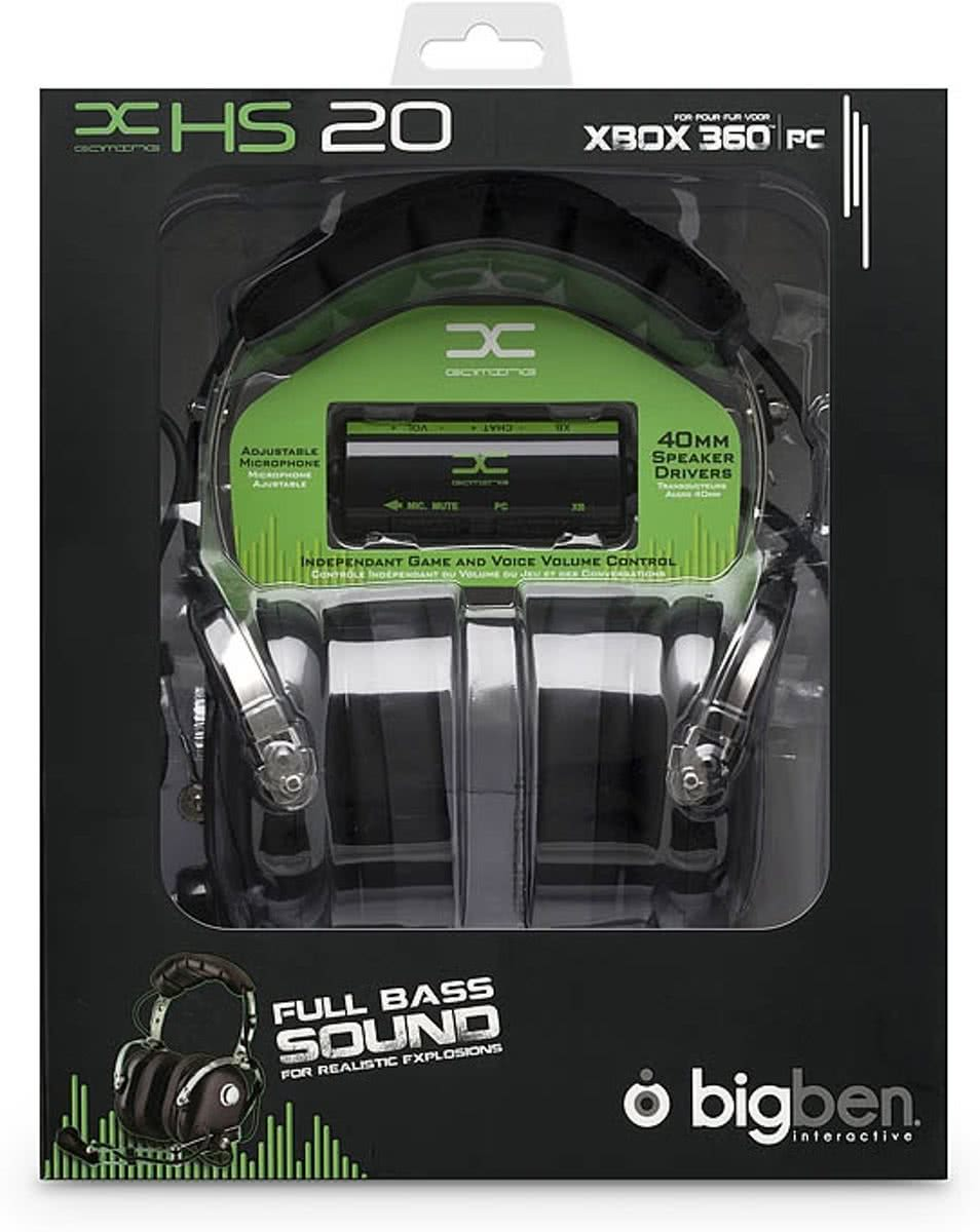 Bigben HS20 Gaming Headset Zwart Xbox 360 + PC