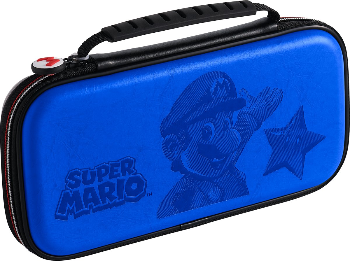 Official Licensed Super Mario Travel Case - Nintendo Switch - Blauw