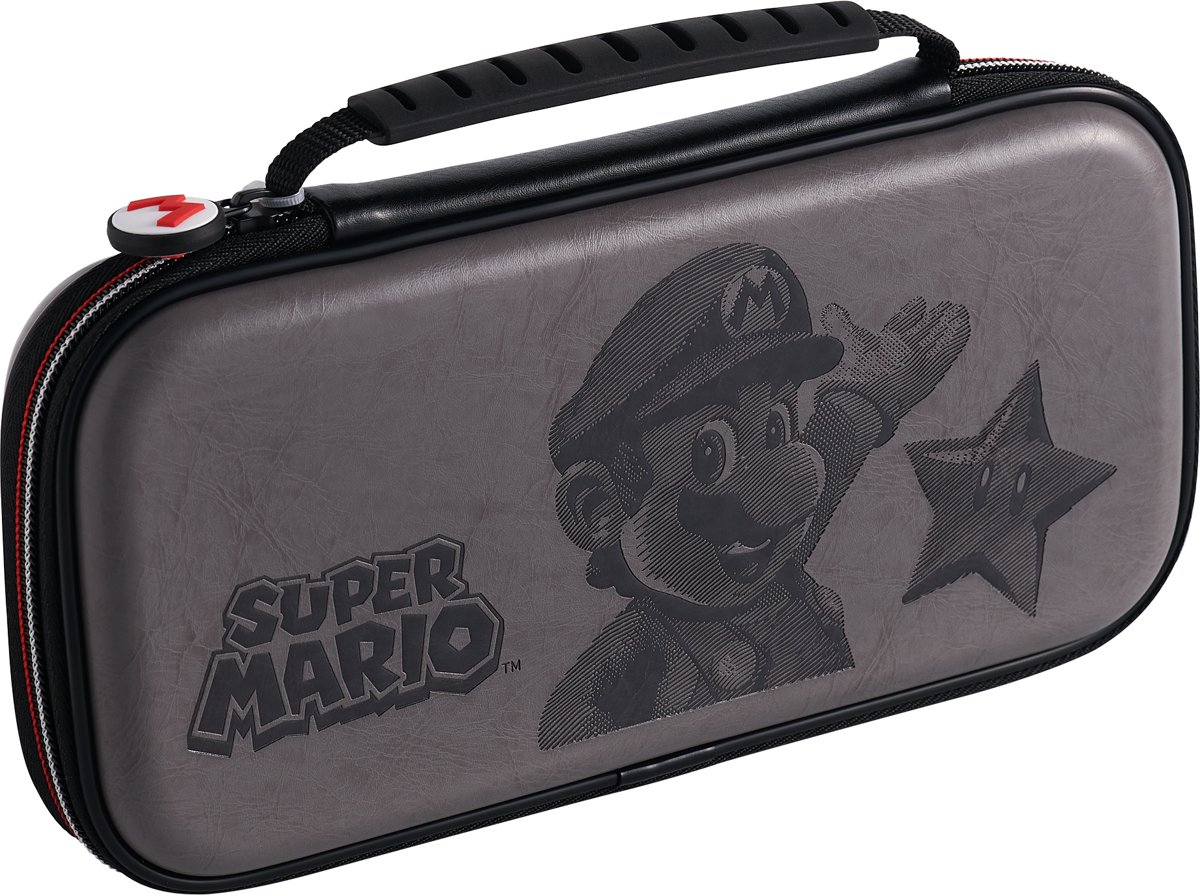 Official Licensed Super Mario Travel Case - Nintendo Switch - Grijs