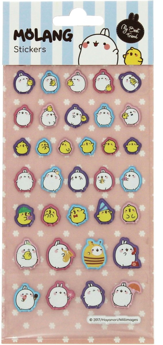 Blueprint Collections Stickers Molang 9,5 X 22 Cm