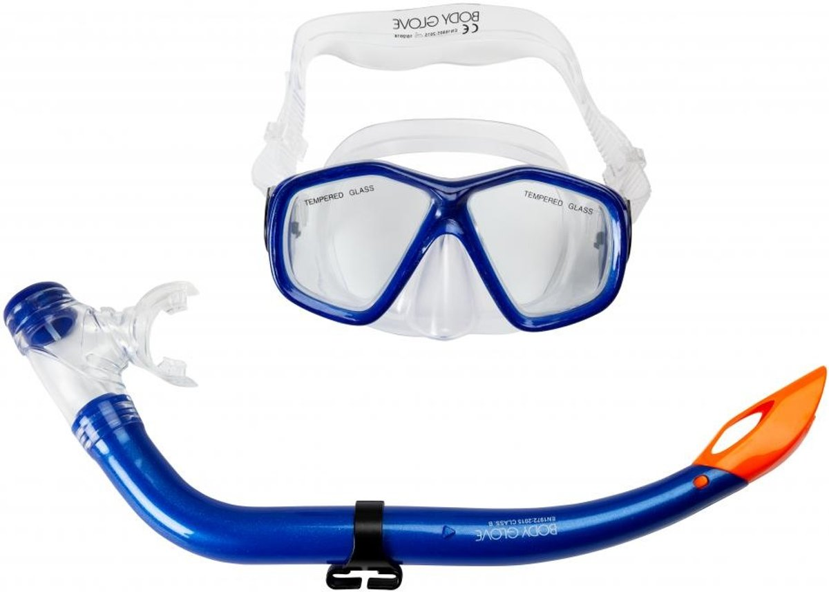 BODY GLOVE PORTSEA SNORKEL SET, BLAUW