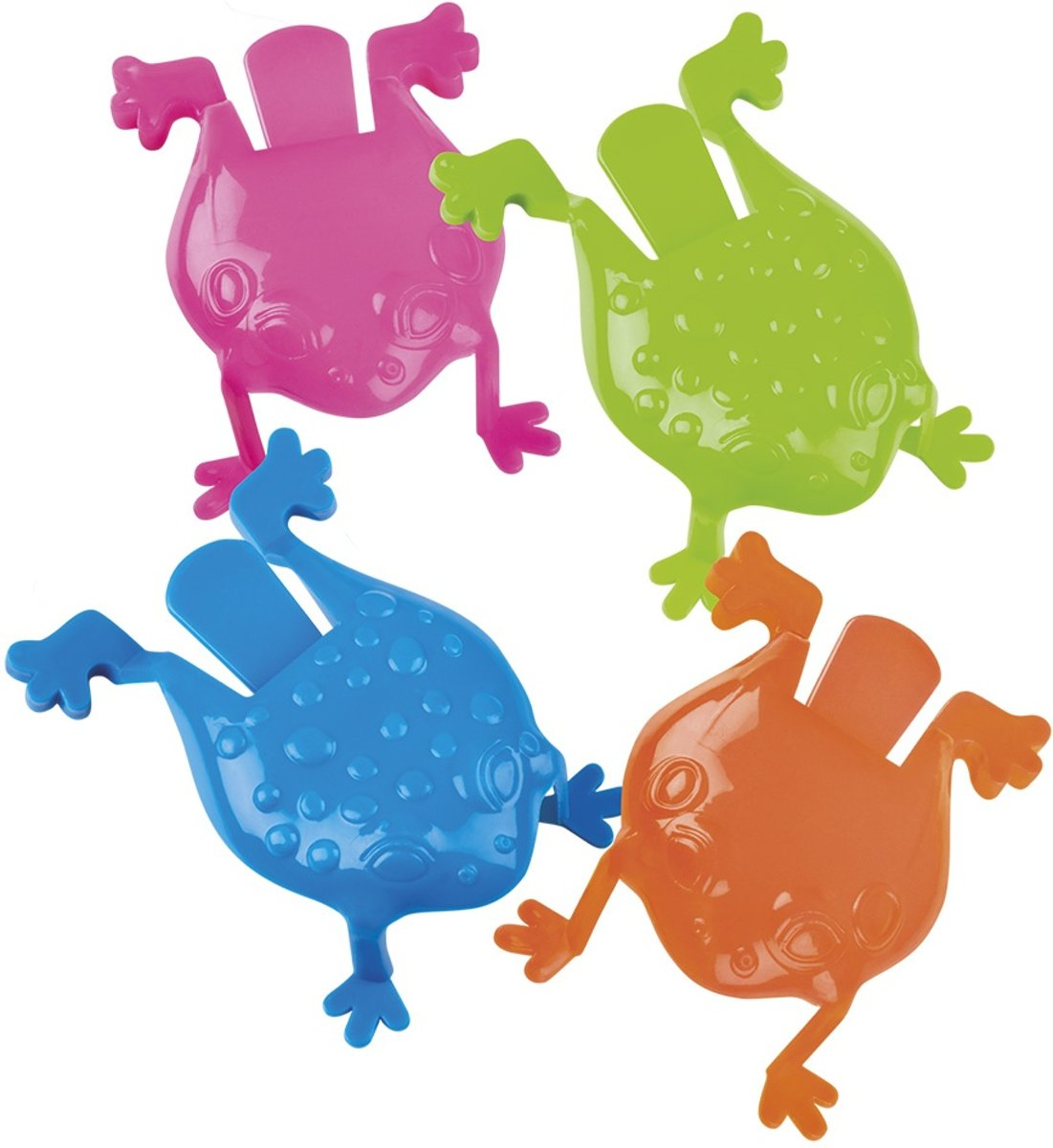 Jumping Frogs Kikkers 4-delig 8 Cm