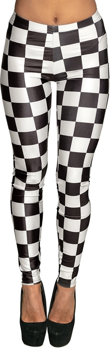 Legging Racing Dames Zwart/wit Maat M