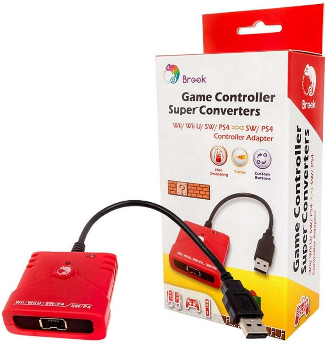 Wii/Wii-U/SW/PS4 to SW/PS4   Super Converter Adapter