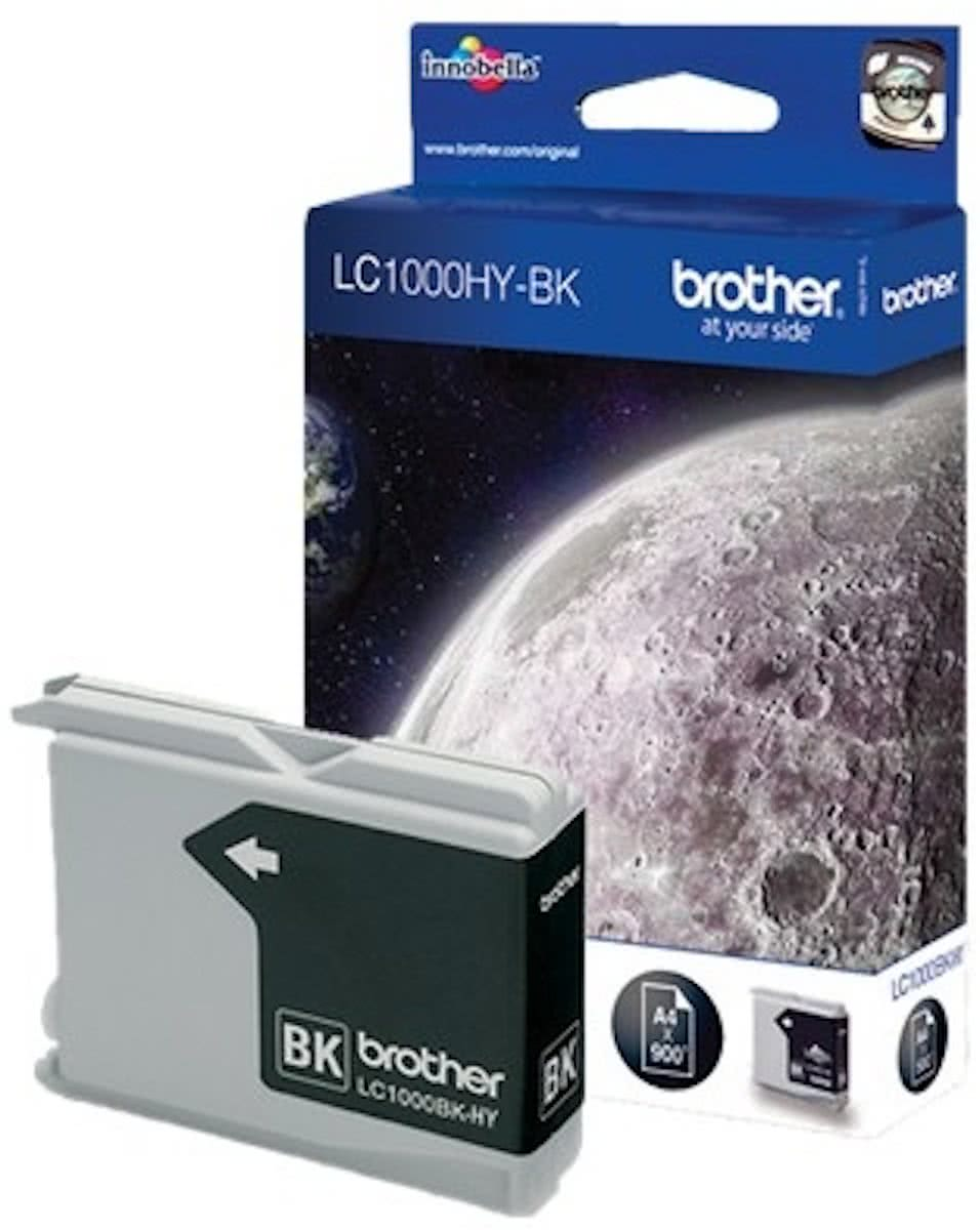Brother LC-1000HYBK - Inktcartridge / Zwart