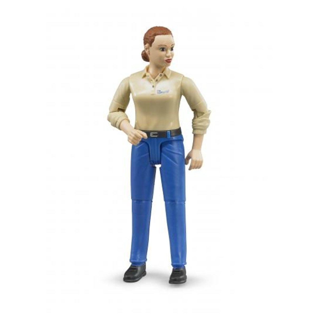 BRUDER Woman with light skin tone and blue trousers pop