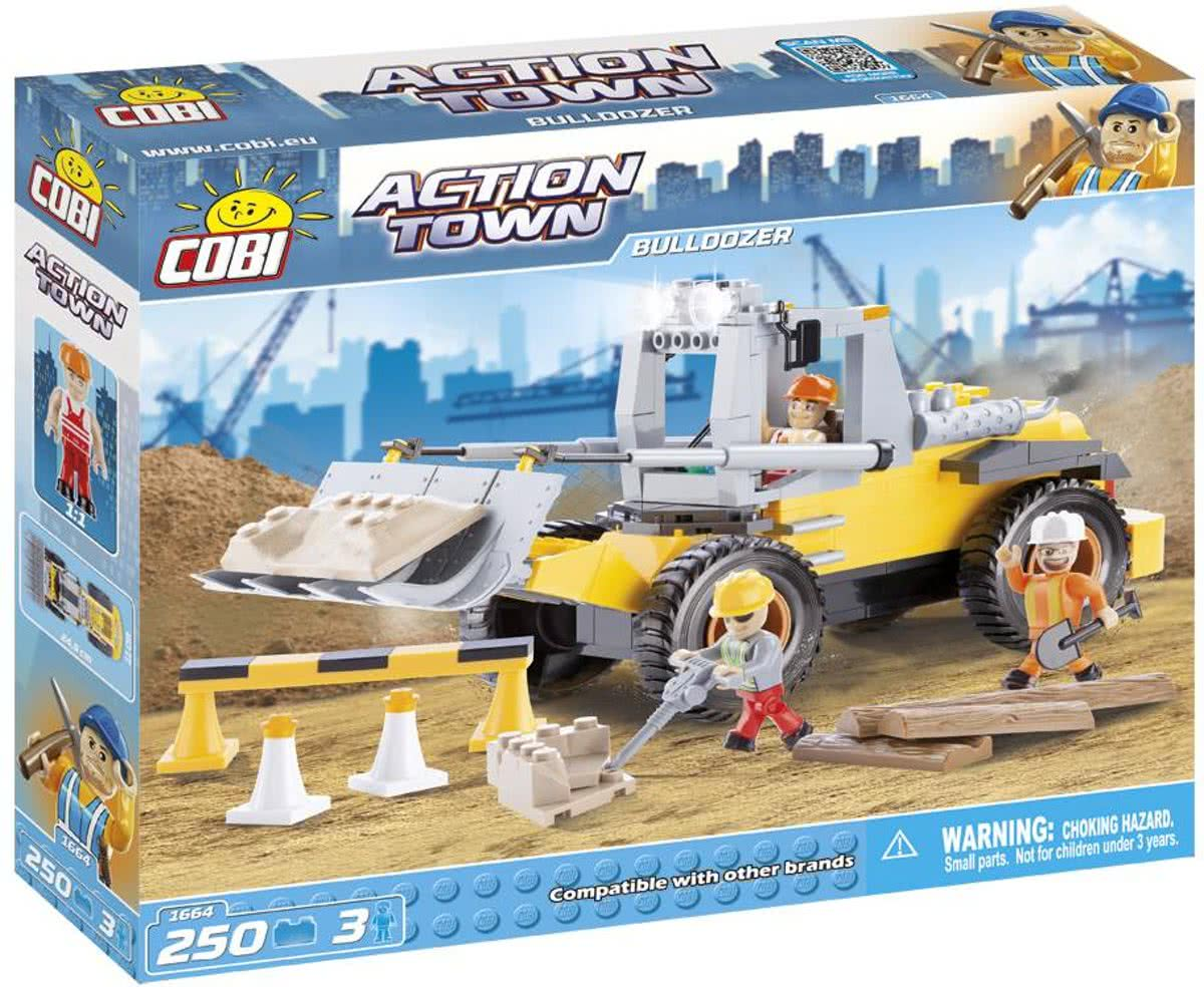 Cobi - Action Town 1664 - Bulldozer