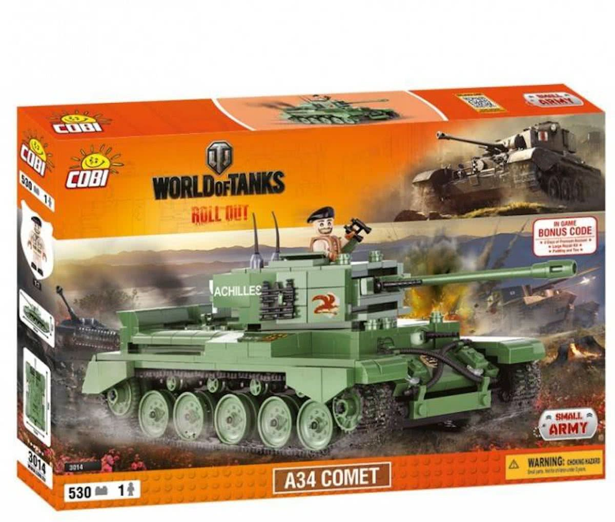 Cobi - Small Army World of Tanks - A34 COMET (3014)