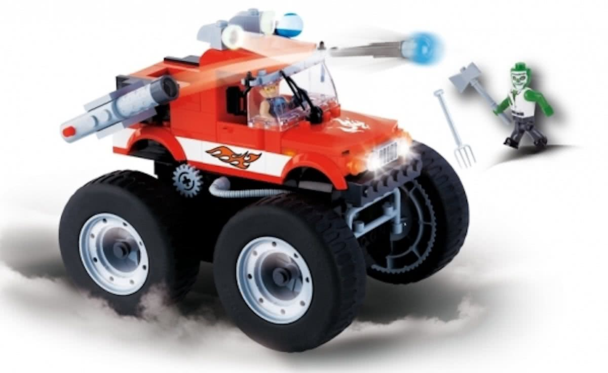 Cobi monster truck bouwstenen set