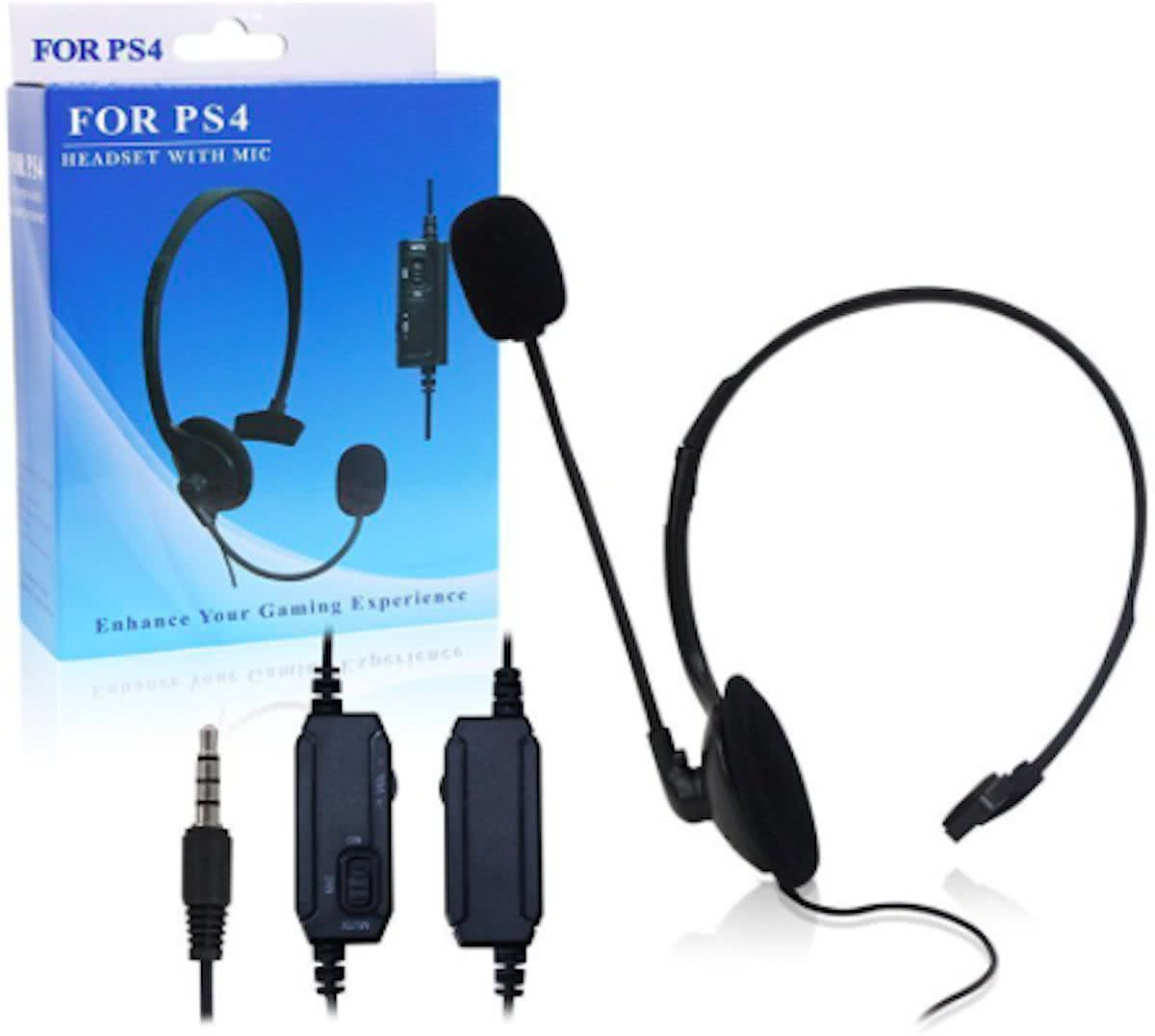 Mono Gaming Playstation Headset PS4 met Microfoon