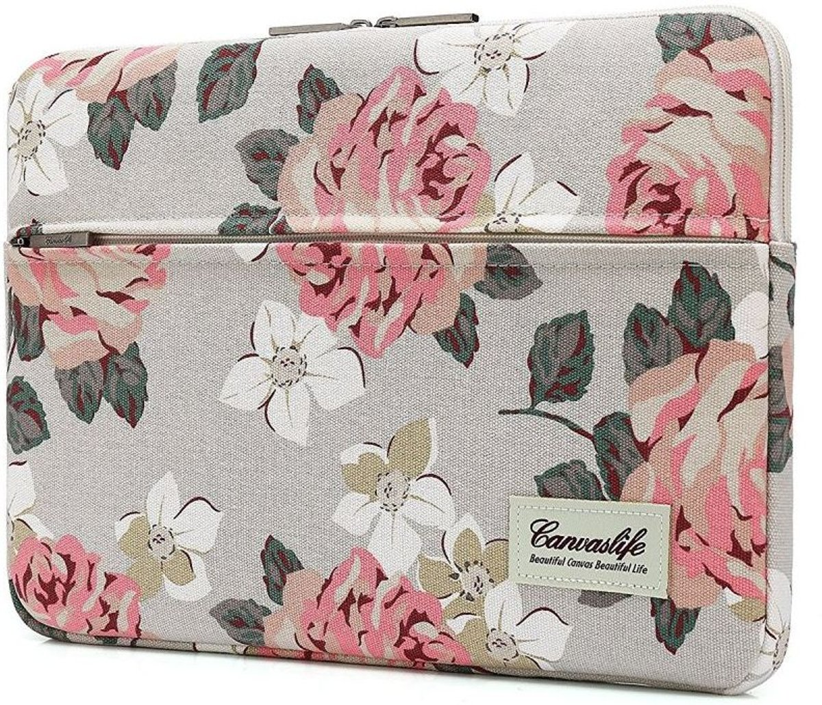 Canvaslife MacBook Pro Hoes / Sleeve 15 inch - White Rose