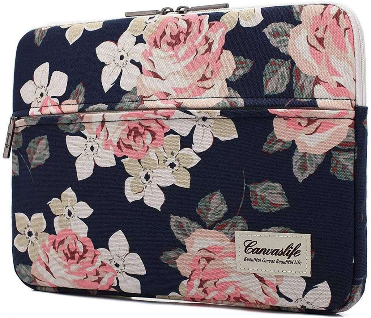 Canvaslife MacBook Pro Sleeve 15 inch - Navy Rose