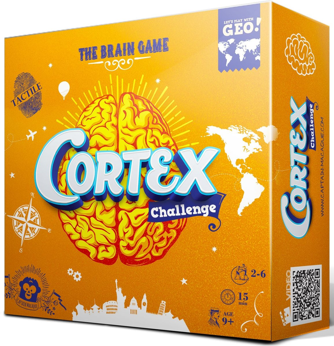 Captain Macaque Cortex Challenge Geo Educatief Spel