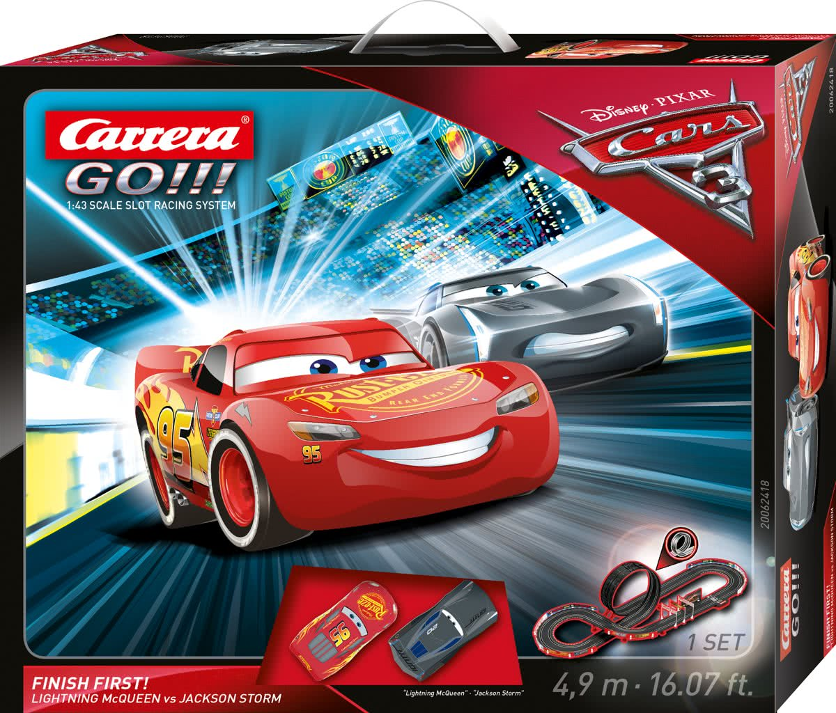 GO!!! Disney Cars 3 Finish First! -