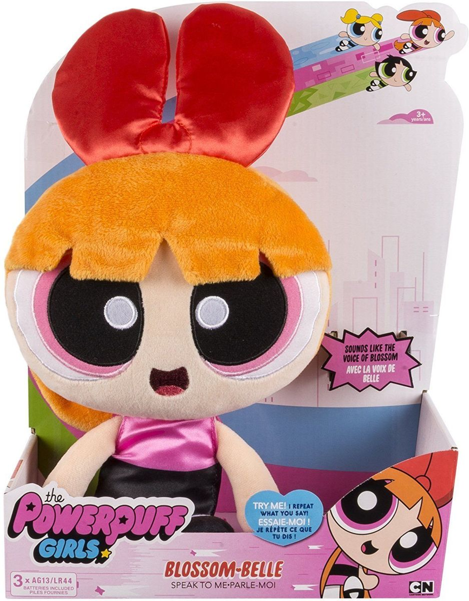 De Powerpuff Girls Interactive Plush met spraakopnamemodus - blossom
